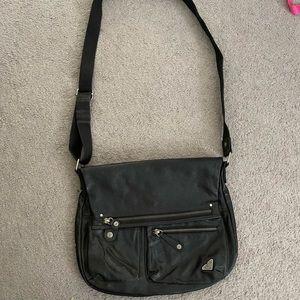 Roxy Black Faux Leather Crossbody Handbag